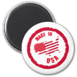 Made in USA rubber stamp design Refrigerator Magnets
