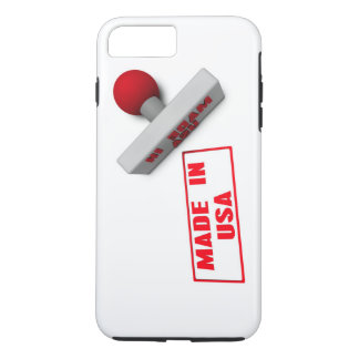 Made in USA Stamp or Chop on Paper Concept in 3d iPhone 8 Plus/7 Plus Case