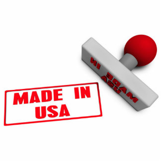 Made in USA Stamp or Chop on Paper Concept in 3d Statuette