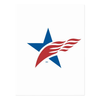 Made In USA Star & Flag Icon Postcard