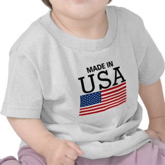 Made in USA US Flag Tshirts