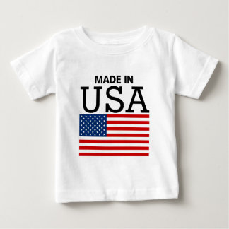 Made in USA US Flag Infant T-shirt