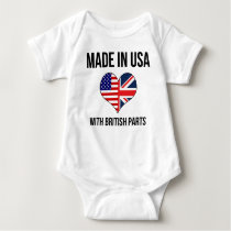 Made In USA With British Parts Baby Bodysuit