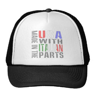 Made in USA with Italian Parts Trucker Hat