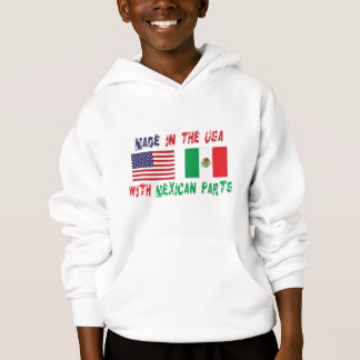 Made In USA With Mexican Parts Kids Hoodie