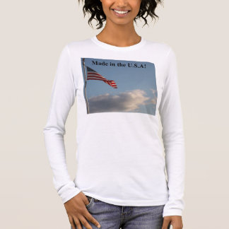 Made in USA Womens Long Sleeve T-shirt  D0003