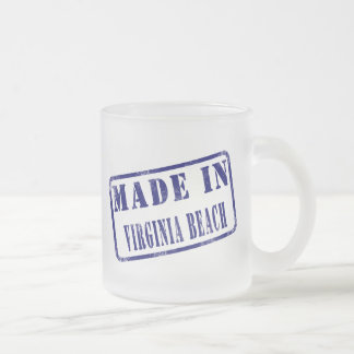 Made in Virginia Beach Frosted Glass Coffee Mug