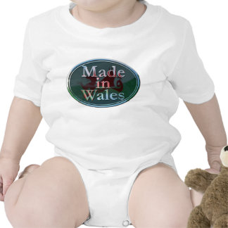Made in Wales baby grow T-shirt