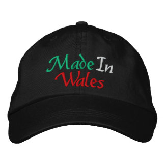 Made In Wales Embroidered Baseball Cap