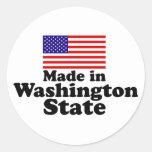 Made in Washington State Classic Round Sticker