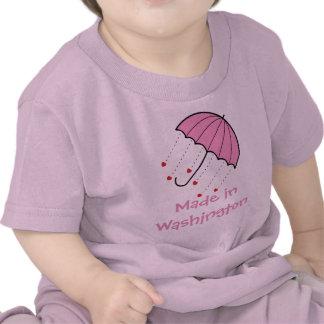 Made in Washington - Umbrella with Hearts (Pink) Shirt