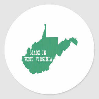 Made In West Virginia Classic Round Sticker
