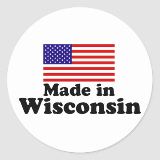 Made in Wisconsin Classic Round Sticker