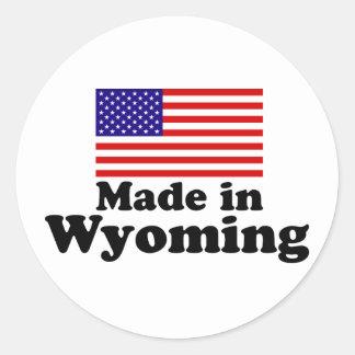 Made in Wyoming Classic Round Sticker
