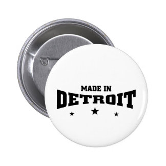 Made ion detroit 2 inch round button