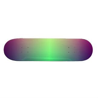 Made iridescent skateboard