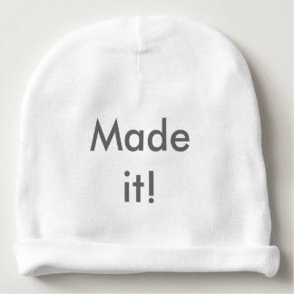 'Made it' baby hat
