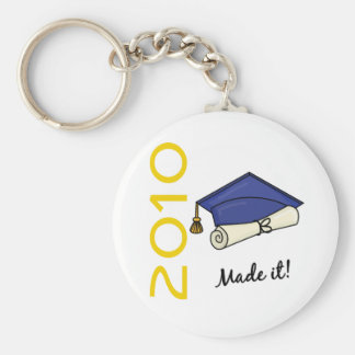 Made It Graduation Cap and Diploma Key Chain
