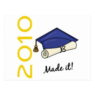 Made It Graduation Cap and Diploma Postcard