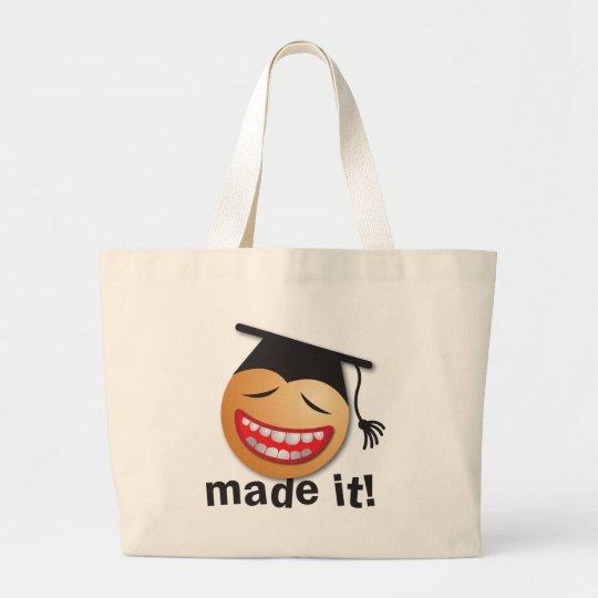 made it graduation large tote bag