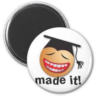 made it graduation 2 inch round magnet