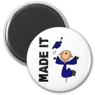 MADE IT Stick Figure Graduation Magnet