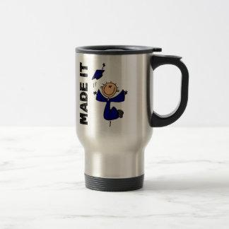 MADE IT Stick Figure Graduation 15 Oz Stainless Steel Travel Mug