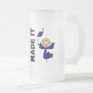 MADE IT Stick Figure Graduation Mug