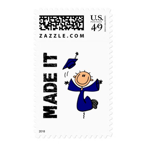 MADE IT Stick Figure Graduation Stamps