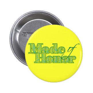 Made of Honor Green Pins