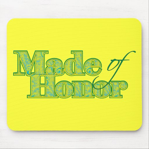 Made of Honor Green Mouse Pad