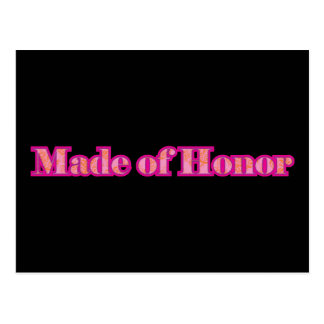 Made of Honor Postcard