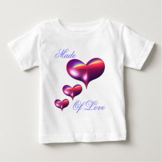 Made of Love Hearts Baby T-Shirt