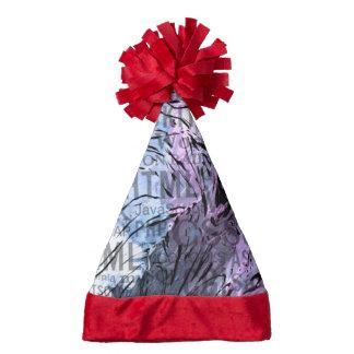 made of words,computer santa hat