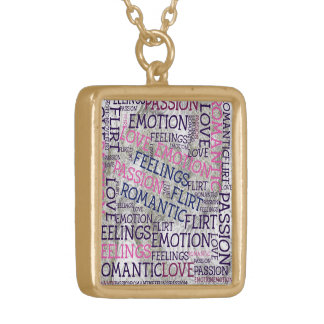 made of words,great feelings square pendant necklace