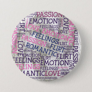 made of words,great fellings pinback button
