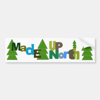 Made Up North Bumper Sticker