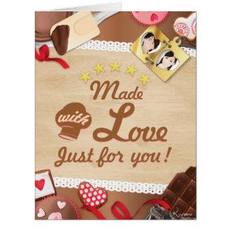 ¡Made with Amor, just fuero you! Card y Sobre Tarjeta De Felicitación Grande