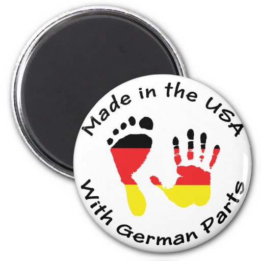 Made With German Parts 2 Inch Round Magnet