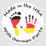 Made With German Parts Classic Round Sticker