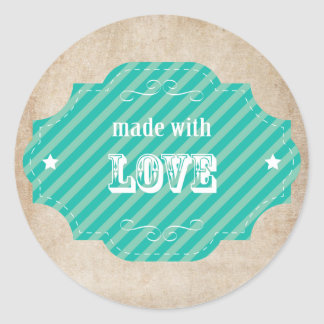 Made With Love - Baked Goodies Classic Round Sticker