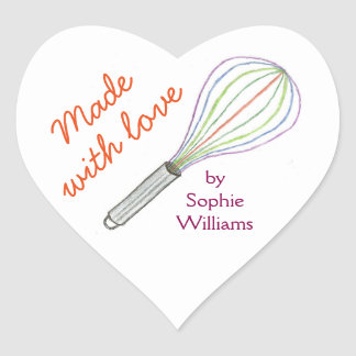 Made With Love baking stickers baking label