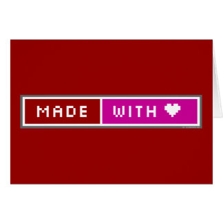 Made With Love Blog Button Card