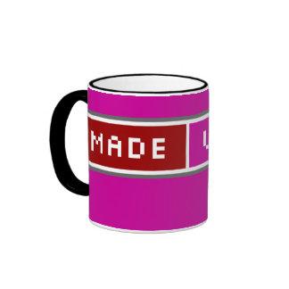 Made With Love Blog Button Mug