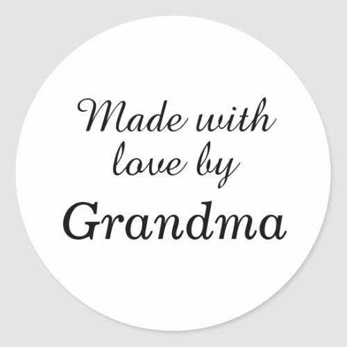 Made with Love by Grandma stickers