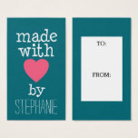 """Made With Love By You<br><div class=""""desc"""">A whimsical,  personalized tag for all your handmade items.</div>"""