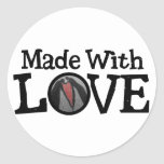 Made with LOVE Classic Round Sticker