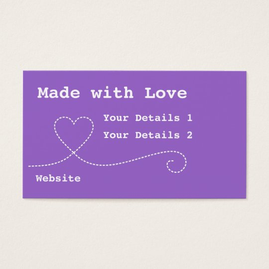 Made with Love Craft Business Tags - Deep Purple