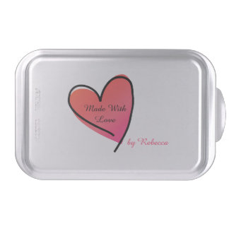 Made With Love Custom Covered Baking Pan