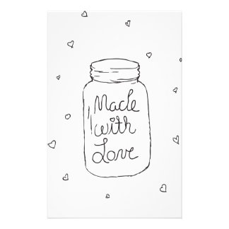 Made with Love Doodle Stationery
